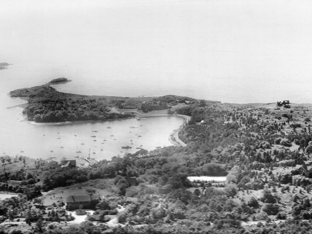 Quissett Harbor and the Knob in the 1930's.