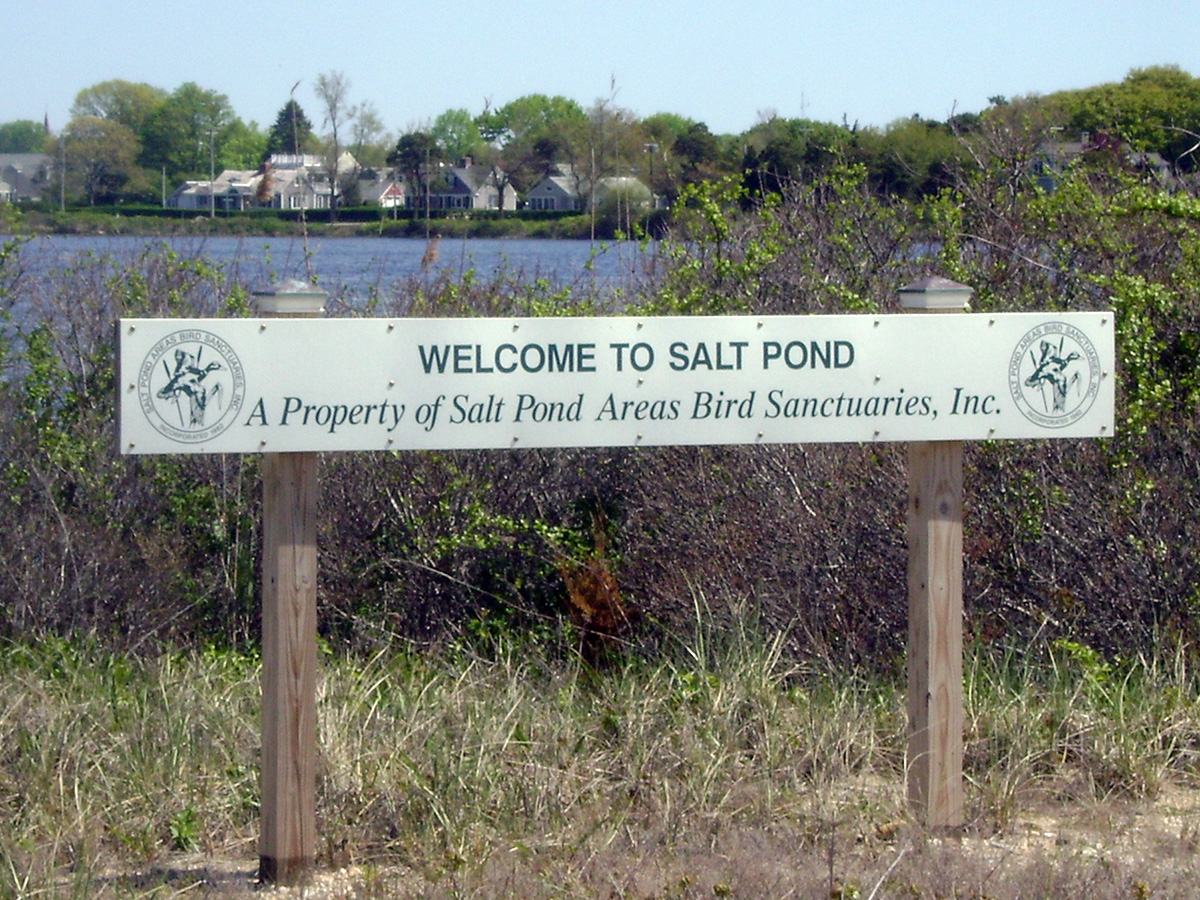 Salt Pond Areas Bird Sanctuaries, Inc. sign